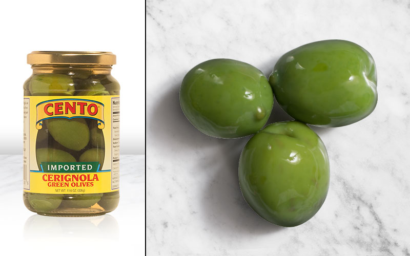 Imported Cerignola Green Olives