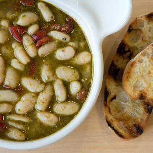 White Bean Pesto Soup