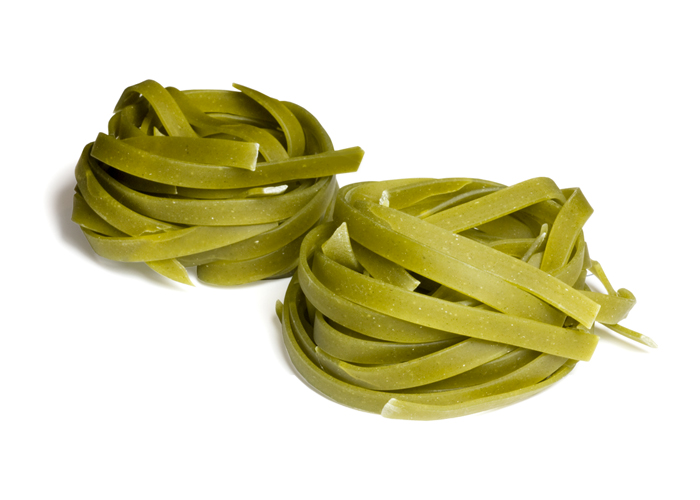 Fettuccine Spinach Nests